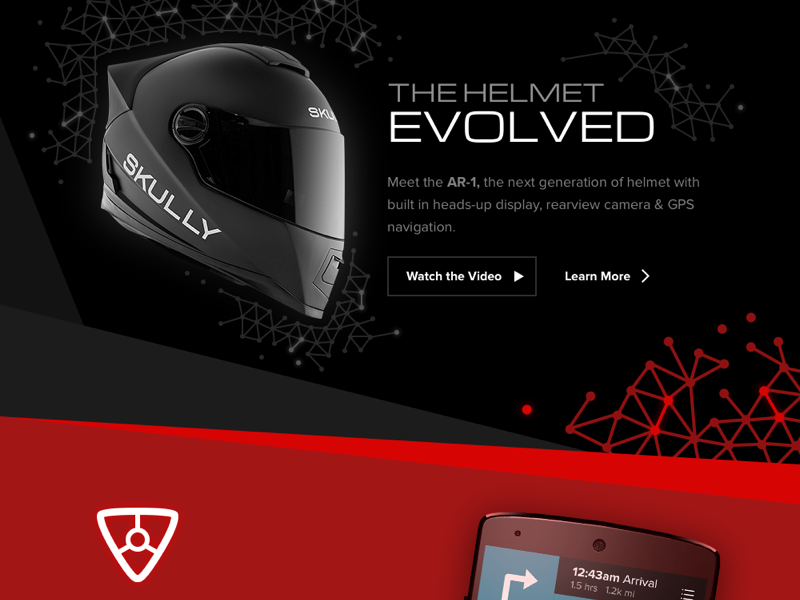 Skully Homepage evolved website skully motorcycle helmet marketing