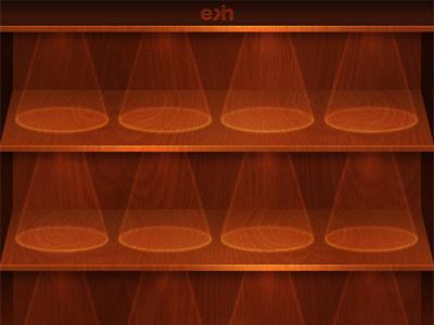 iPhone 4 AppShelf Background v2 iphone4 iphone ios4 background bookshelf brown