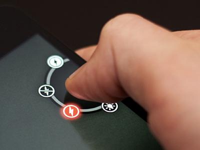 iPhone Flash Selector flash selector ui interface picker circular iphone mobile