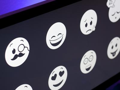 Emoticons emoticon emoticons sad smile happy sleepy tired surprised loving vector