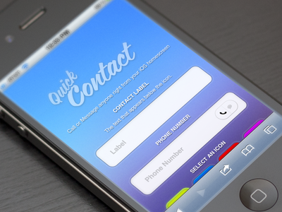 QuickContact - Call/message anyone from your iOS homescreen contact shortcut iphone ui interface sms text call ios