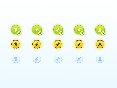 Status Icons icons status web buttons glyphs check blue construction