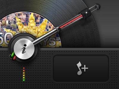Retina Record iPhone UI - Mobile Design
