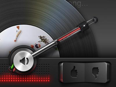 iPhone retina UI - Mobile design mobile retina iphone ui interface record player mute rocker