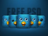Birdie iPhone 4 Icon Psd