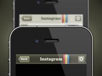 Instagram Navbar: Dark & Light