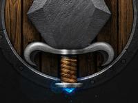 Dagger & Shield Icon