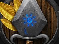 Magical Dagger & Shield Icon / Illustration