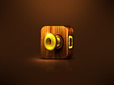 Door iPhone 4 Icon icon iphone4 iphone door brown gold