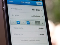 Edit Class iPhone UI (Mobile Design)