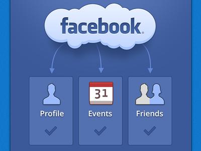 Facebook Connected Mobile iPhone UI Design