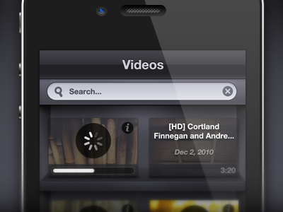 Secret Videos iPhone UI interface video iphone iphone4 ui dark