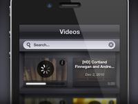 Secret Videos iPhone UI