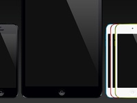 iPhone 5, iPad Mini, and iPod Touch Color vector devices