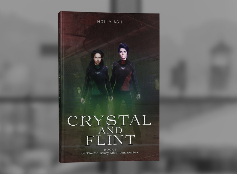 The Journey Missions: Crystal and Flint by Holly Ash photosop book covers book cover design cover design professional professional book cover design book book cover graphic design