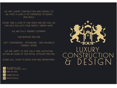 Luxury Construction & Design DVD Cover