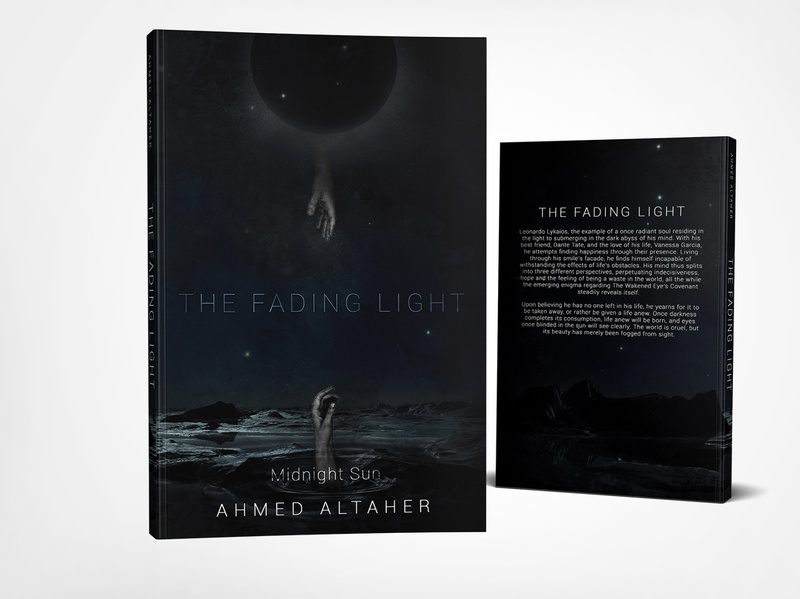 The Fading Light by Ahmed Altaher photoshop book cover design graphic design cover professional professional book cover design book cover book graphic design