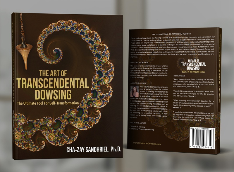 The Art of Transcendental Dowsing by Cha-zay Sandhriel book covers book cover design photosop design cover professional professional book cover design book cover book graphic design