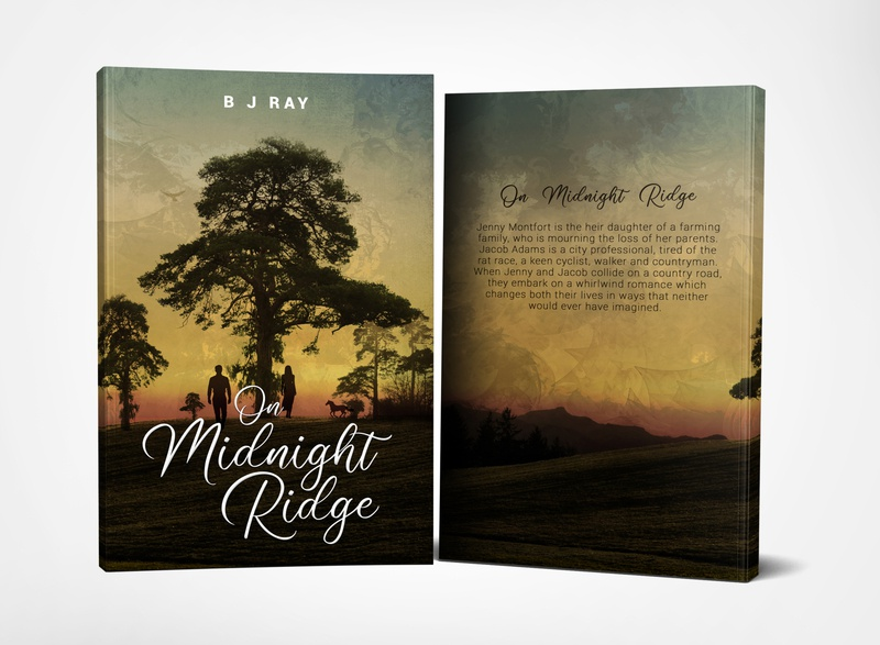 On Midnight Ridge by B J Ray photosop book covers book cover design design cover professional professional book cover design book cover book graphic design