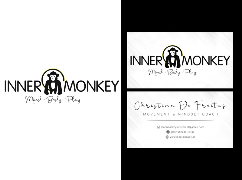 Logo redesign and Business card design for Inner Monkey design business card logo professional illustration graphic design