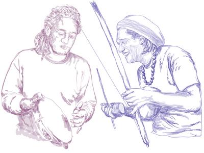illustrator drawing capoeira