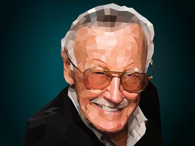 Stan Lee polygon art