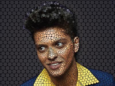 Bruno Mars circle art