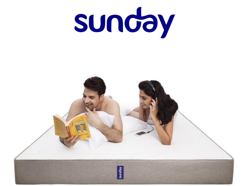 Sunday Mattress logo modern sophisticated simple minimalist