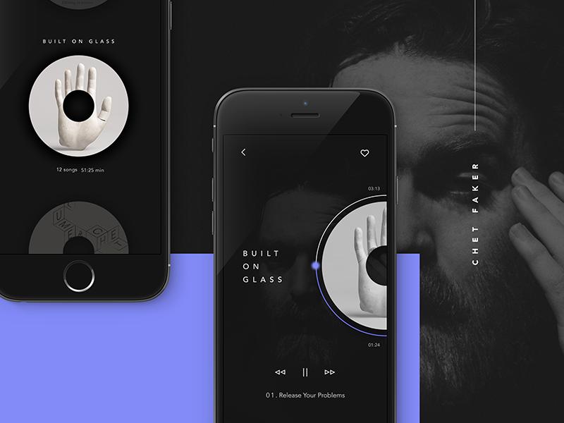 Chet Faker - Music App by Shani levi | Dribbble | Dribbble