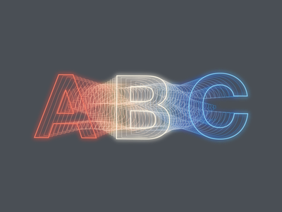 Morphing letters typography abc poster
