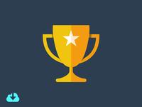 Flat Trophy Icon