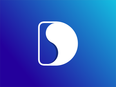 Dynamico logo single letter logo monogram d logo monogram logo amblem icon blue branding logo