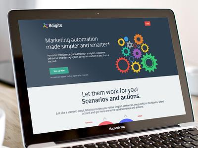 8digits - Automation website webapp 8digits automation flat design