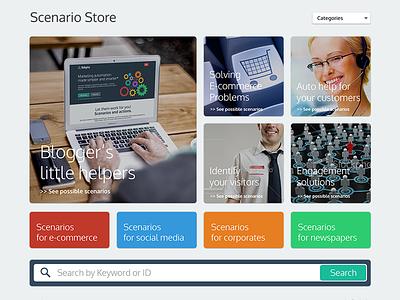 Scenario Store 8digits website web app store