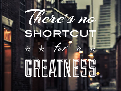 There's no shortcut for greatness typography wallpaper iphone dark saying
