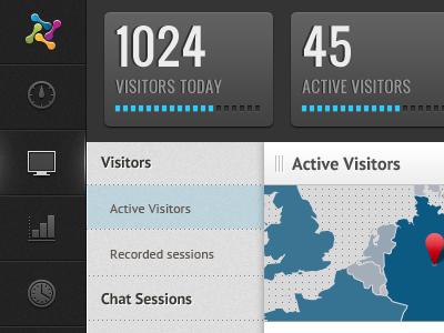 Visitor dashboard ui dashboard visitors analytics