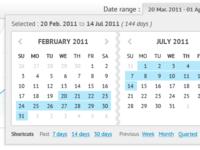 Date range picker