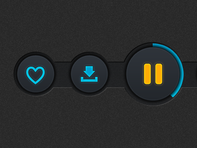 Player Buttons ui iphone ipad buttons