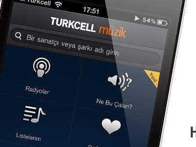Music App Home Screen