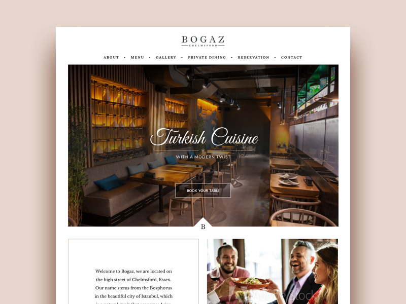 Restaurant Website web design landing page restaurant homepage website