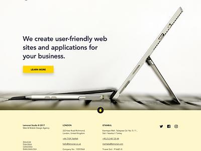 Lemonat lemonat simple homepage webdesign website