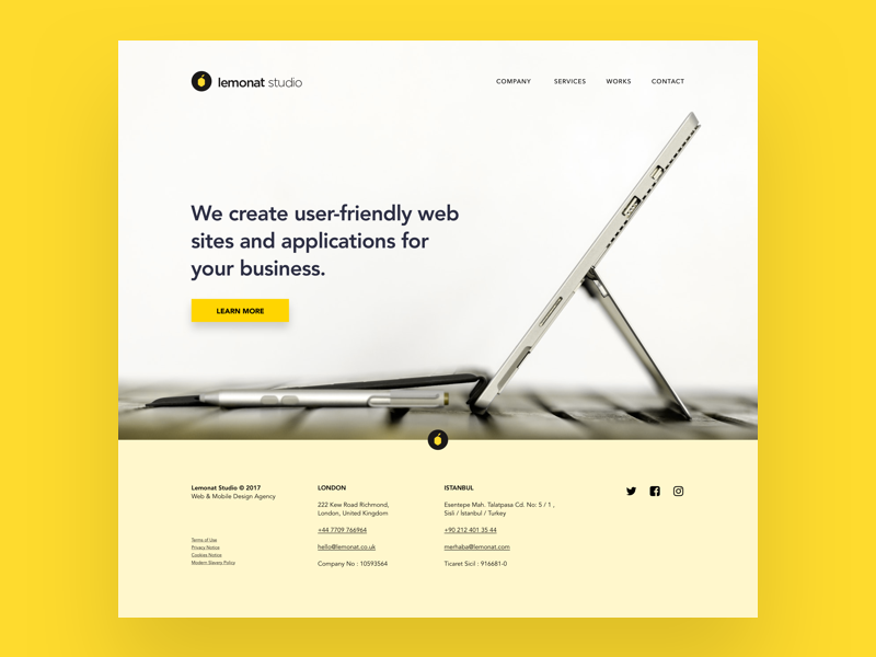 Lemonat lemonat simple homepage webdesign website