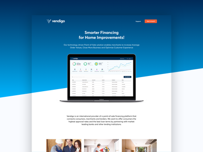 Homepage Design for a Financing Startup startup landingpage finance app fin tech blue finance onepage homepage design homepage website