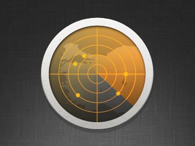 Radar Icon radar orange turkey map poi iphone ipad icon