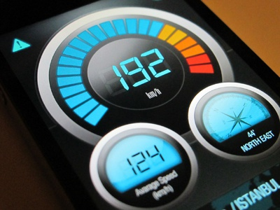 BMW Speedometer speedometer iphone bmw dashboard led blue