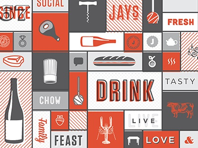 Mood Board drink social fresh tasty feast family live love ring meat corkscrew diamond