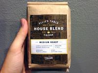 Coffee label mockup
