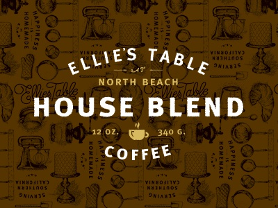Coffee label dribbble