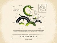 Sea Serpents art drawing line brush illustration texture cloud skeleton ocean water sail pirate wreck ship monster lake dragon serpent sea snake