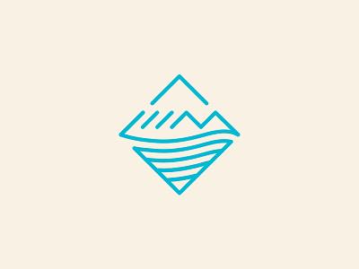 LIIM pt.1 logo branding identity mountain ocean mark wave diamond yoga surf